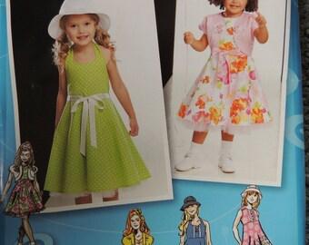 Simplicity 2237 Project Runway Girls Dresses, bolero and Hat