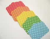 Street Sign Polka Dot Tags- Choose your color- set of 25
