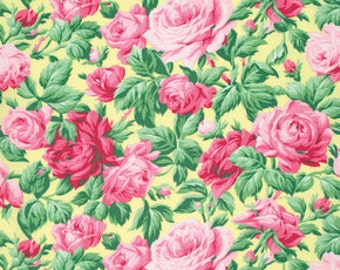 Snapshot Rose Garden Verna Mosquera  Cotton Fabric PWVM113butter
