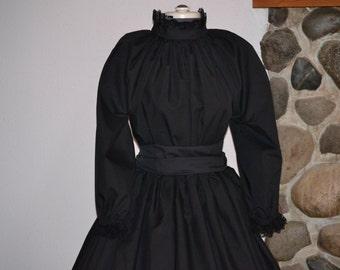 Susan B Anthony Costume Civil War Dress Colonial Prairie Pioneer skirt blouse Womens