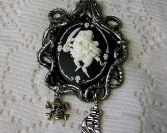 Peg Leg Pirate Necklace - Octopus - Pirate Ship - Skull - Davy Jones Locker Necklace - Pirate Cameo Necklace - The Flying Dutchman