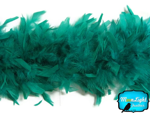 Chandelle Feathers, 2 Yards - PEACOCK GREEN Chandelle Boa, 80 gram : 2134