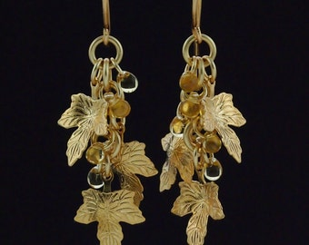 Shaggy Leaves - Earring Kit  in Gold or Silver - Beginners and Intermediate