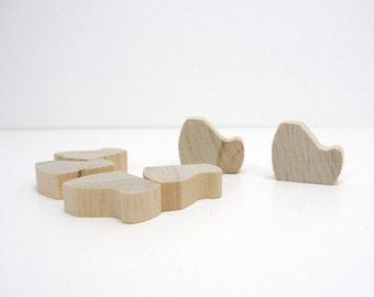 Wooden body, sitting body cutout set of 6