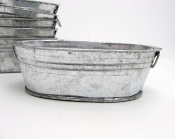 miniature metal washtub miniature metal wash tub miniature metal pan set of 6