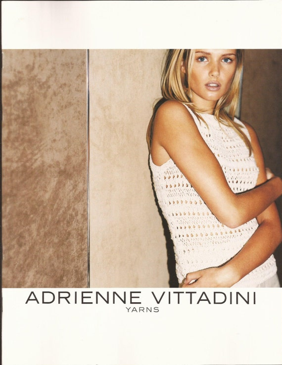 Adrienne Vittadini Knitting Pattern Books : Items similar to Adrienne Vittadini Knitting Pattern Book 10 / 9 designs for ...