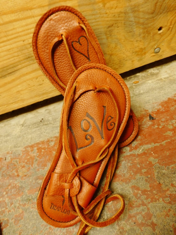 Personalized Maori Sandals from Tread Light Gear