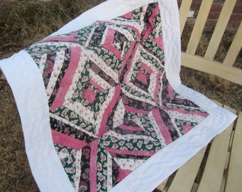Floral lap quilt/wall hanging