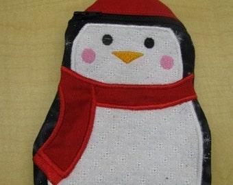 Winter Penguin Pouch