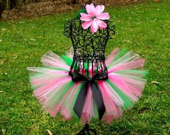 Strawberry Shortcake tutu- Lilly Pulitzer Inspired tutu- Green tutu- Pink tutu- Green and Pink tutu- strawberry Shortcake Costume