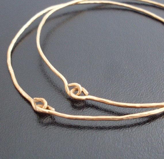 Hammered Gold Bangle Bracelets, Hammered Jewelry, Gold Hammered Bracelets 14k Gold Fill, Hand Forged Jewelry, Gold Hammered Bangle Bracelets