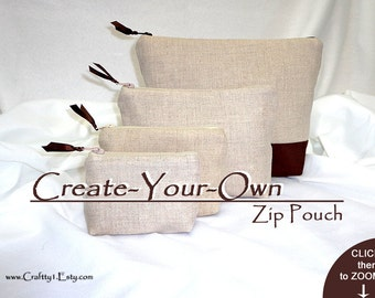 Made-to-Order -  Ladies Zip Pouch