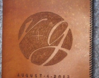 Hand tooled leather Anniversary/Wedding journal