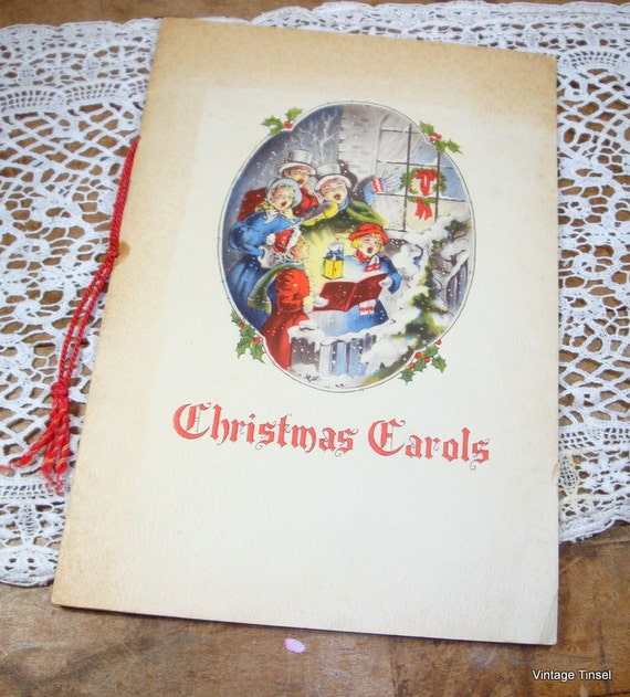 Vintage Christmas Carols Booklet, 1960's From Union Electric, St. Louis, Missouri  (608-10)