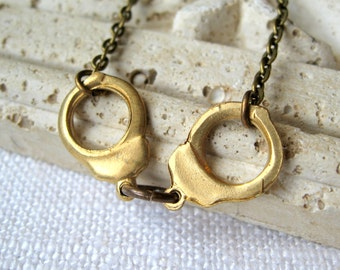 handcuff necklace brass handcuffs nancy grace necklace