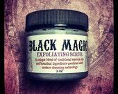 The Original Black Magic Exfoliating SCRUB- activated charcoal tea tree green clay face exfoliation 2oz jar