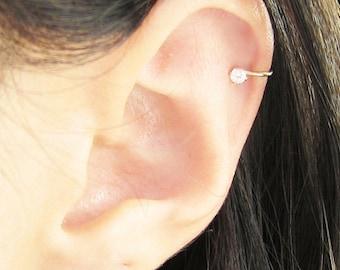 Gold Filled 2.5mm Cubic Zirconia Ear Cuff