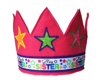 Big Sister Felt Crown
