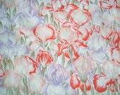 Signed Echo Iris Flower Garden 100 Percent Silk Scarf