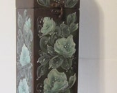 sale, sale,sale,  Now 15.00 was 19.00, Hand Painted Tall Wood Box, Beautiful Roses, Hand Painted by MontanaRosePainter,
