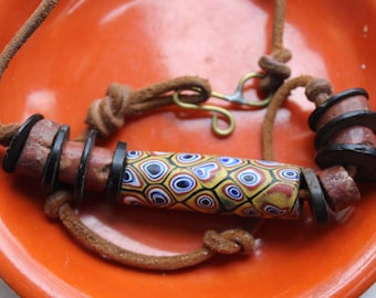 African Trade Bead Necklace Choker VINTAGE by Plantdreaming