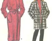 Vogue 9088 coat jacket pattern sz 8 10 12 ge 1980s FF