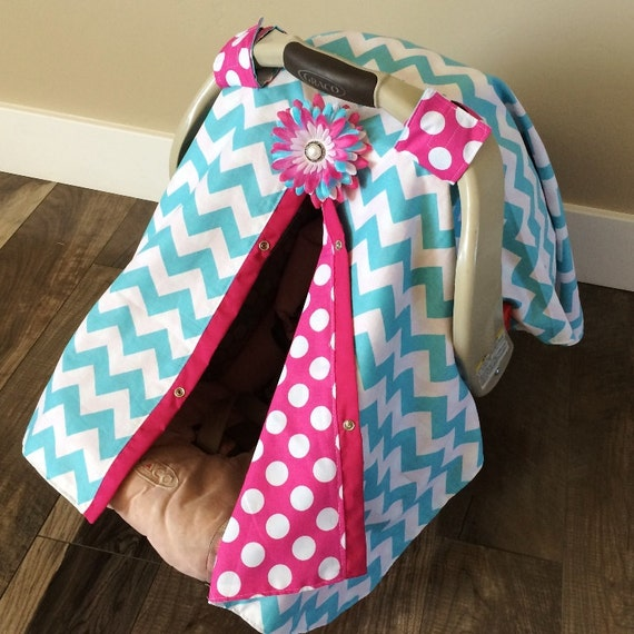 Car Seat Canopy With Snaps