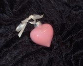 Hand painted mini glass heart ornament H56
