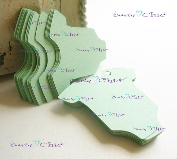 """80 Baby Bodysuit Tags Size 2"""" In Non-textured or Textured Cardstock paper"""