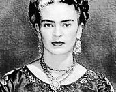 Frieda Kahlo Portrait Belt Buckle on Sterling Silver