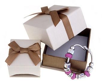 Gift Box - Elegant Gold Linen