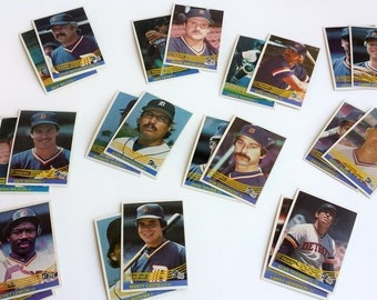 Vintage 1984 Commemorative Detroit Tigers Baseball Cards