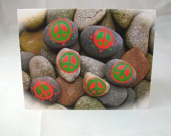 Peace Rock Christmas Card