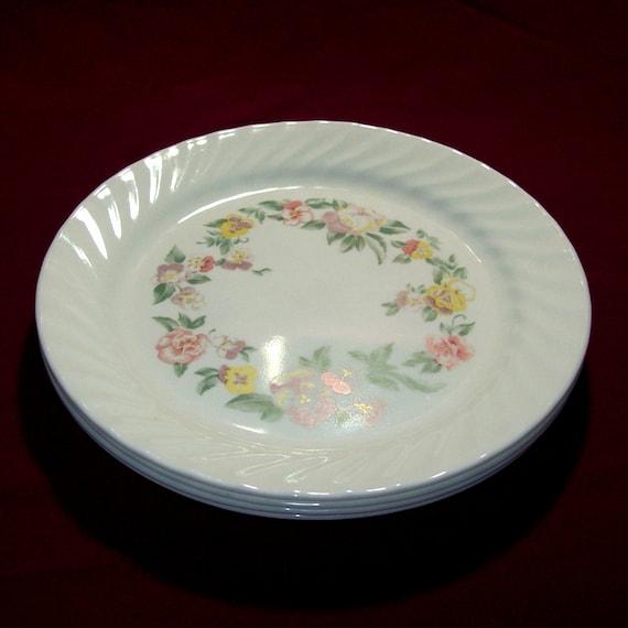 Vintage Corelle Garden Portrait Dinner Plates By GypsumMoonVintage