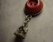 Victorian Phonograph and Vintage Button Necklace - The Dulcet Tones