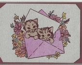 All Occasion Post Card-Kittens in Envelope