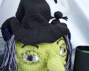 Knitting Pattern Halloween WITCHES BREW tea cosy