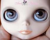 New Soft Resin OOAK REALISTIC custom Blythe eye chips set C7, by Ana Karina. UV laminated