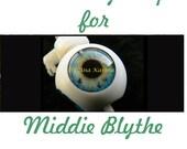 Middie Blythe New Soft Resin OOAK REALISTIC custom eye chips set H4 , by Ana Karina. UV laminated