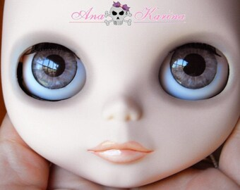 Blythe eye chips OOAK REALISTIC custom set C7, by Ana Karina. UV laminated
