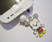 MICKEY MOUSE Phone Charm Disney CUTE Wireless Cell iPhone Dangle Audio Dust Plug