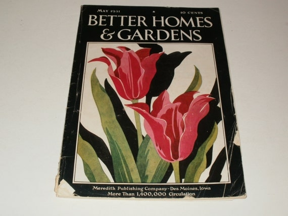 Vintage Better Homes And Gardens Magazine May 1931 By