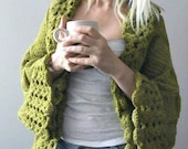 Big Olive Green Cardigan- Plus Size Cardigan- Small-Medium-Large-Xlarge-2X-3X Blanket Cardigan Custom Made Cardigan Plus Size Sweater