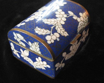Chinese Cloissonne Enamel on Brass Box, early 1900's