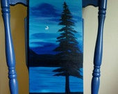 The Tree at Dawn - Original painting by Jamies Art 10x20