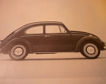 Vintage Ad - Volkwagen ad - - Classic Car Ad from 1960 - Original -