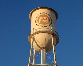 Lucky Strike Water Tower - Durham, NC postcard