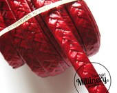9mm Wide Double Starbright Swiss Braid for Millinery Hat Making 3 yards - Red
