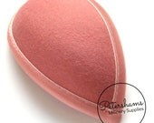 Retro 1940s style Teardrop Wool Felt Hat Base for Fascinators and Cocktail Hats - Dusky Pink