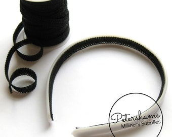 10 yard Roll Black 1cm Wide Headband Lining Braid Ribbon for Millinery, Fascinator Making